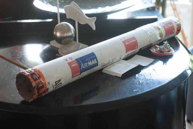 Folie im Paket nach der Zollabnahme
