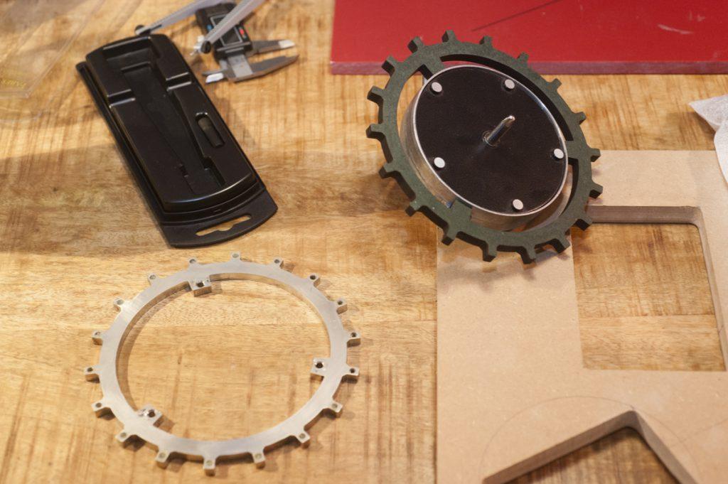 Einzelteile der EDS900 Dampfungsaufhängung