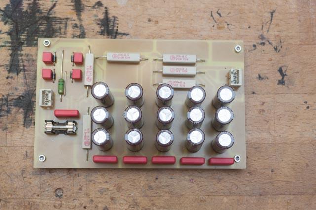 Netzteil klassische RC Siebung mit Ultrafastdioden