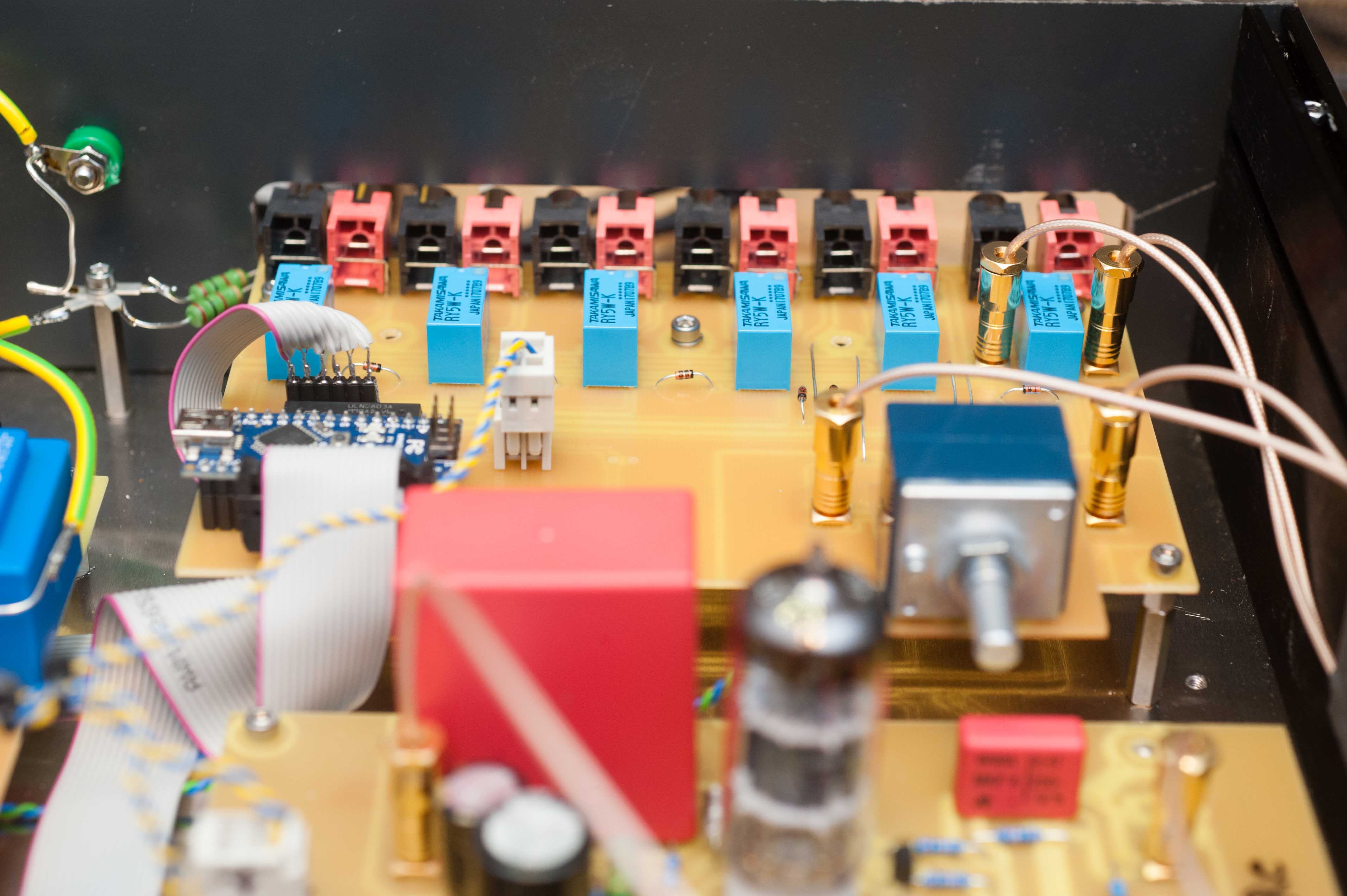 Input module Preline Bloehbaum fixed RCA jacks relay control